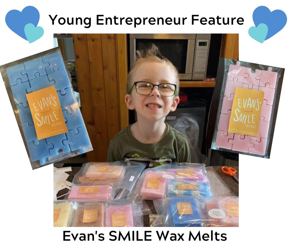 Young Entrepreneur Feature Evan's SMILE Wax Melts