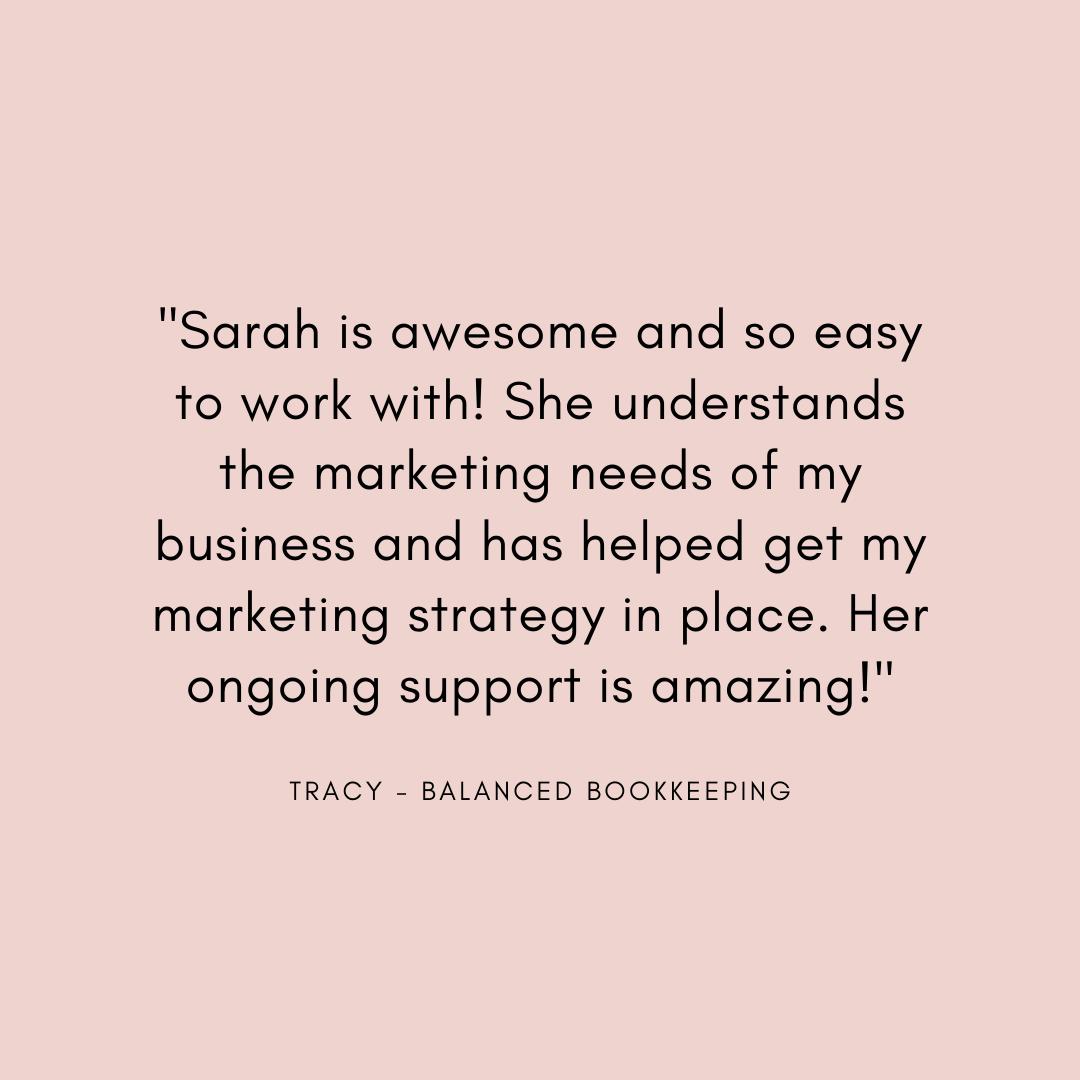 digital marketing coach testimonial Sarah clarke