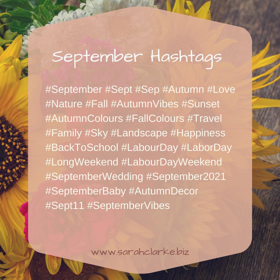 September Hashtags
