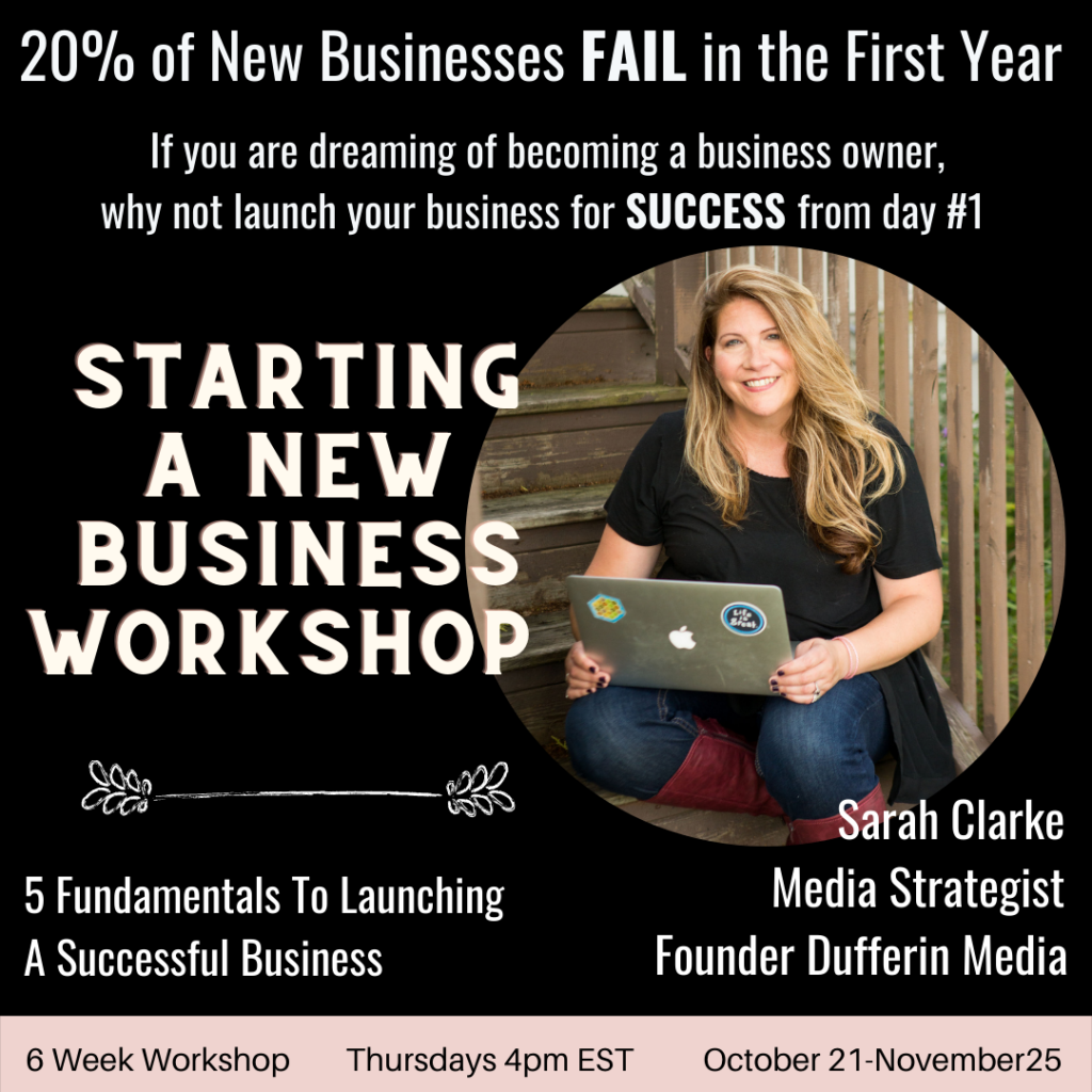 starting a new business workshop
