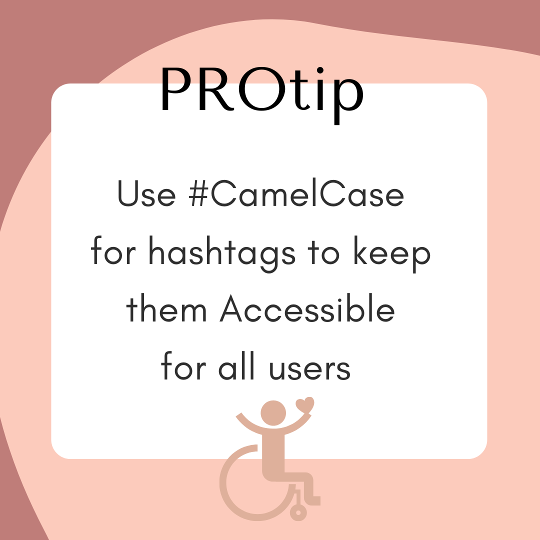 use camel case for hashtags