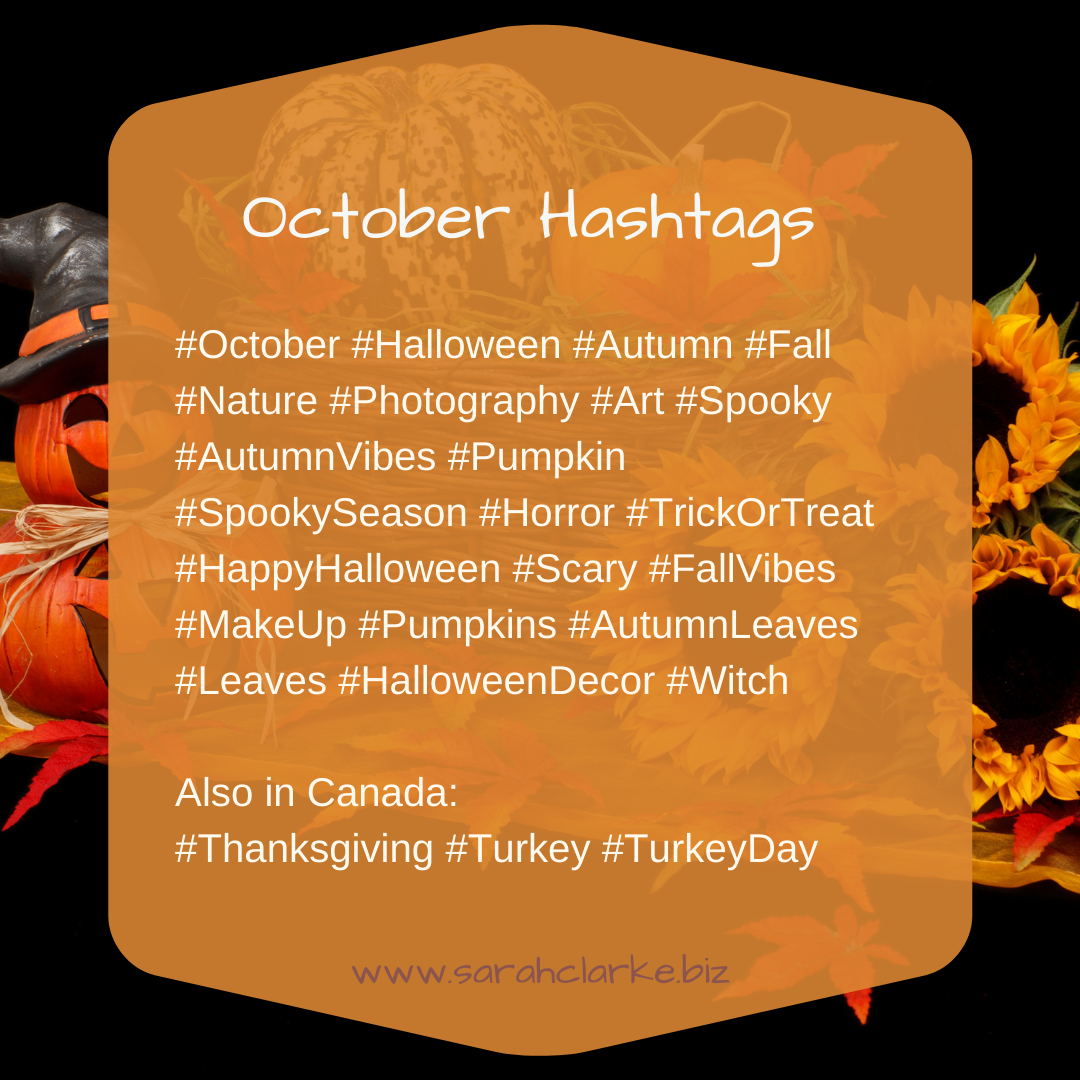 October hashtags