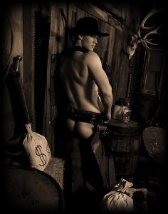 Category 1 - Best Portrait of a Man. Photo take by Staff at Judge Roy Bean's Old Time Photos