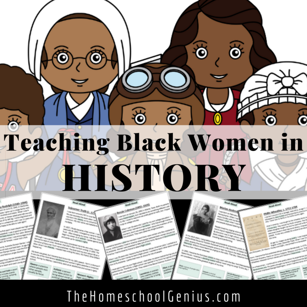 Black Women in History   No Prep Resources for Your Homeschool or Classroom