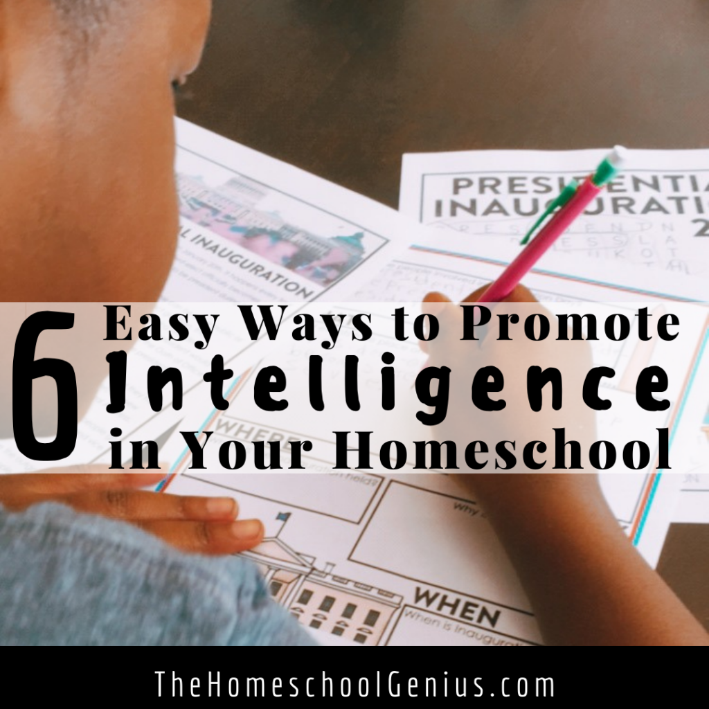 6 Easy Ways to Promote Intelligence in Your Homeschool