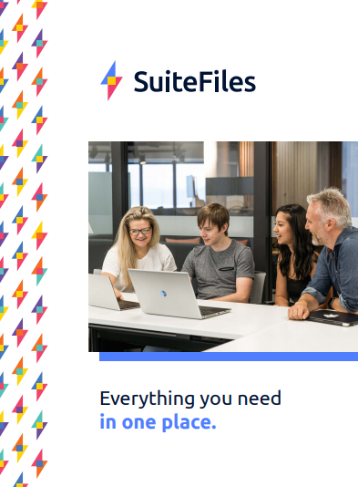Cover of the SuiteFiles Info Pack PDF