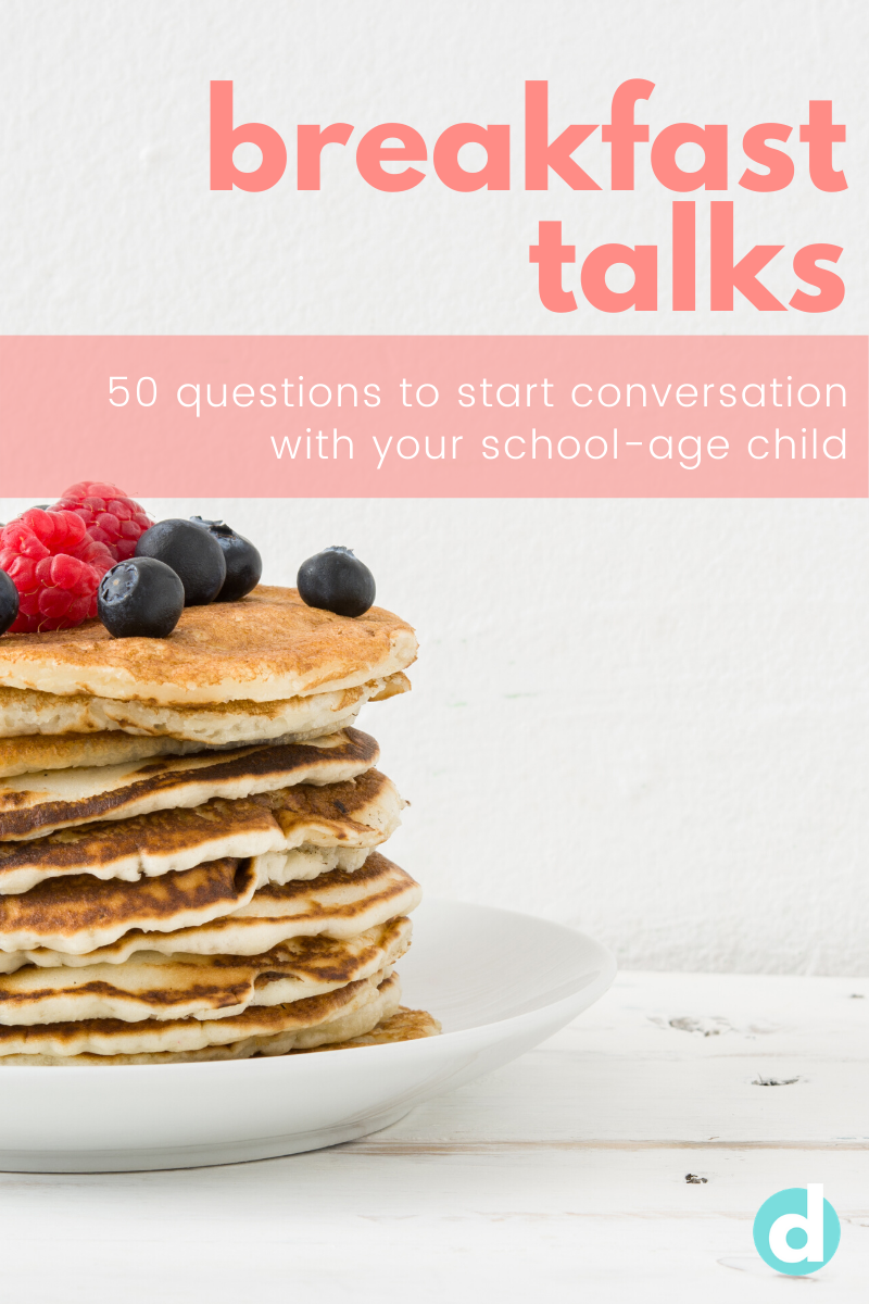 Questions to start conversations with your school-age child
