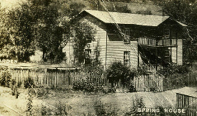 Black and White Photo of a Cabin