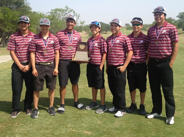 Boys Team - left to right: Alex Sanchez, Daniel Gonzalez, Noe Moraida, Nic Betancourt, Alex Cano, Nathan Avila, Kenneth Barbee