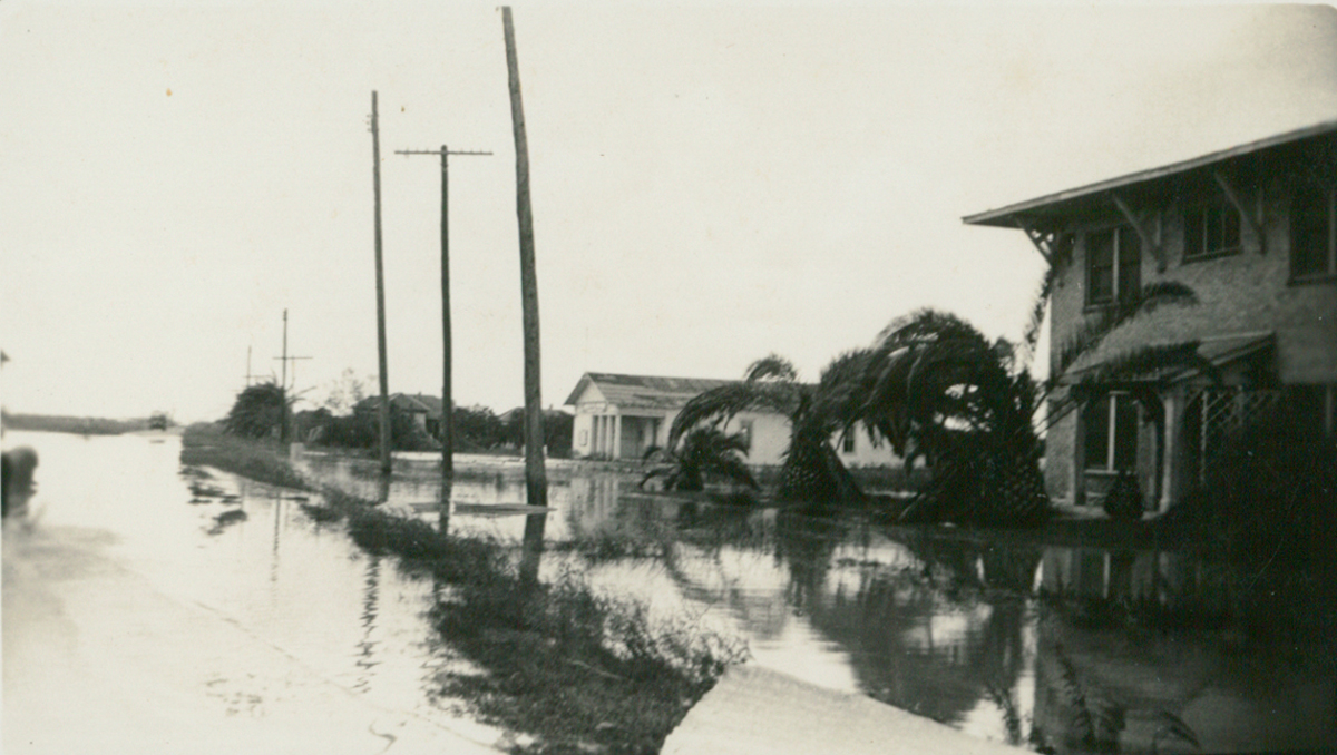 La Feria after the Sept 1933 Hurricane. Photo: Courtesy Lisa Dunlevy Bordelon from the Lucile Wessels Dunlevy Collection.