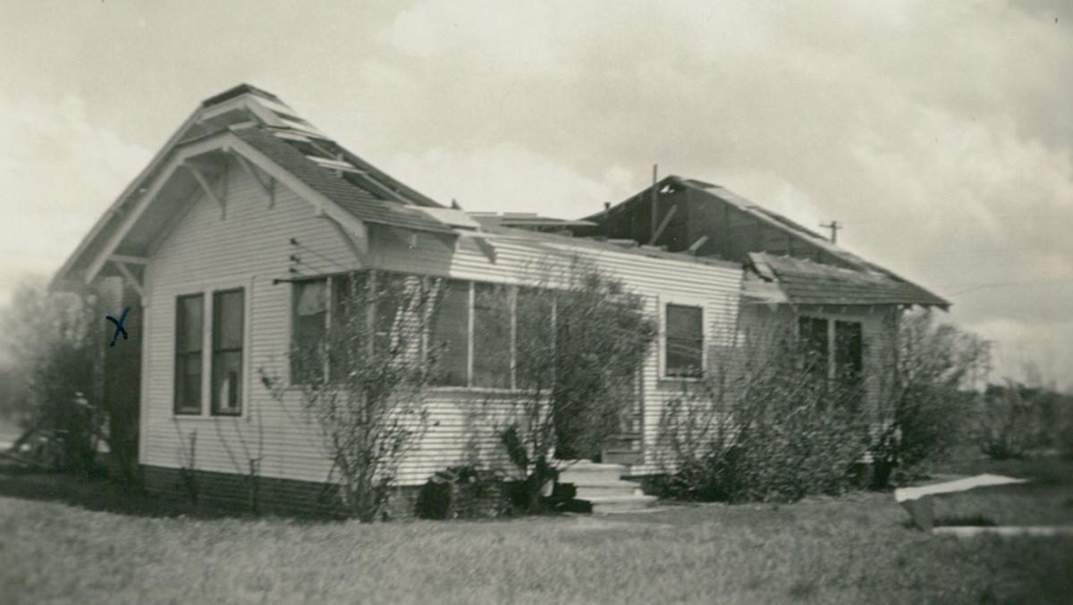 The Cuba-Brownsville Hurricane of Sept 1933 caused over $16.9 million in damage and 40 deaths in southern Texas. Photo: Courtesy Lisa Dunlevy Bordelon from the Lucile Wessels Dunlevy Collection.