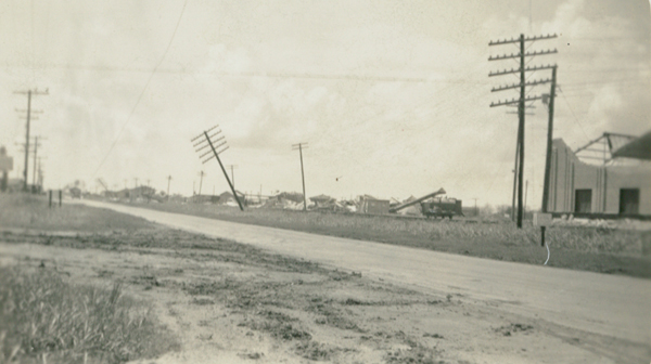 The 1933 Cuba–Brownsville hurricane was one of two storms in the 1933 Atlantic hurricane season to reach the intensity of a Category 5 strength.  On September 2, it attained winds of 140 mph. Initially the hurricane posed a threat to the area around Corpus Christi, Texas, and the local United States Weather Bureau forecaster advised people to stay away from the Texas coastline during the busy Labor Day Weekend. Officials declared martial law in the city and mandated evacuations. However, the hurricane turned more to the west and struck near Brownsville early on September 5 with winds estimated at 125 mph. It quickly dissipated after causing heavy damage in the Rio Grande Valley. High winds caused heavy damage to the citrus crop. The hurricane left $16.9 million in damage and 40 deaths in southern Texas. Thanks to reader Lisa Dunlevy Bordelon, as well as news articles from the day, we're excited to provide you with a unique look at this destructive chapter in La Feria's history.