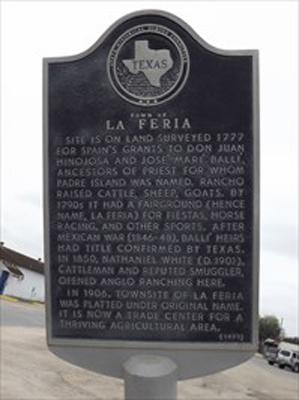 La Feria's Historical Marker