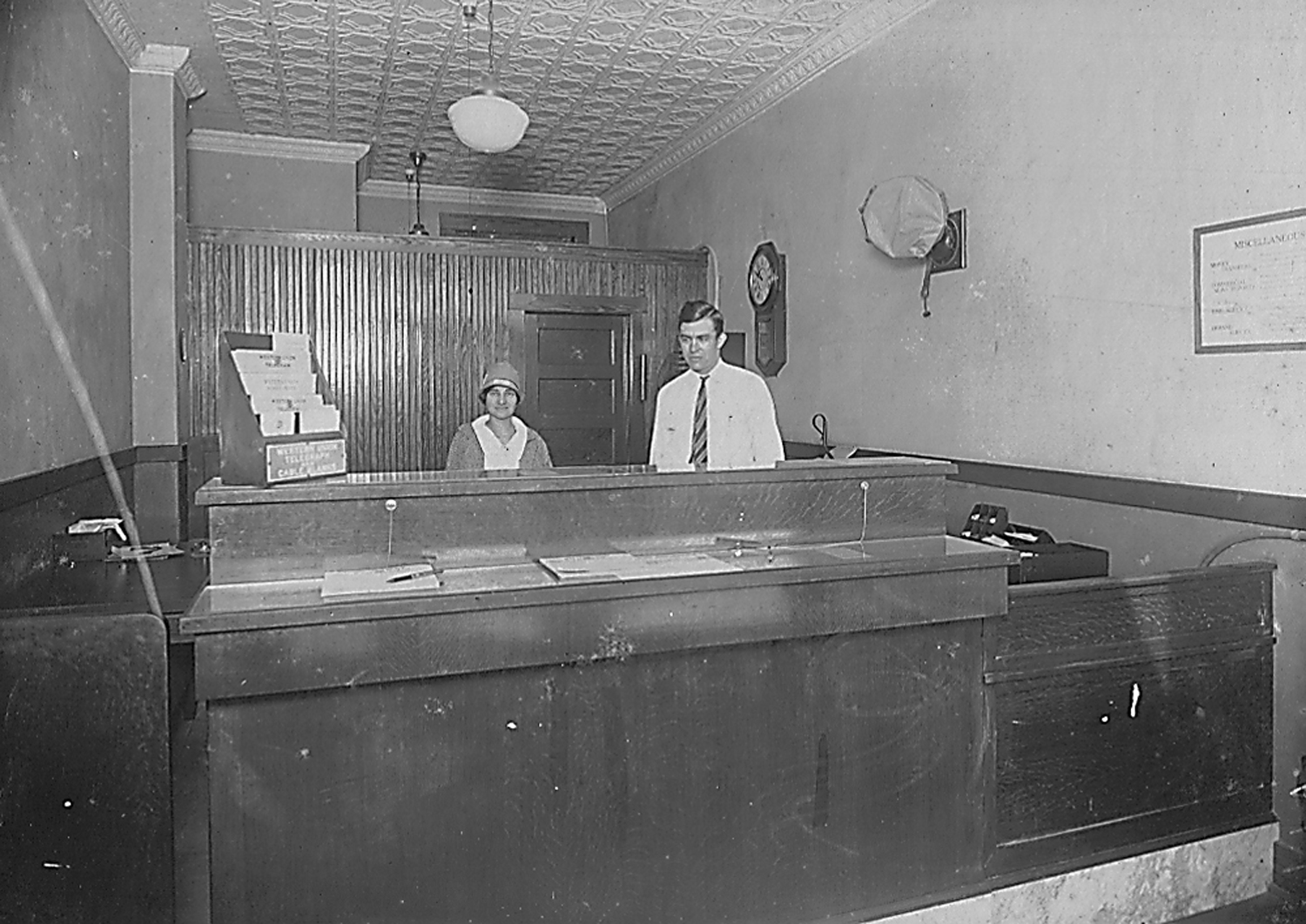 Western Union office in La Feria circa 1928. Photo: LFN Archives. click to enlarge.
