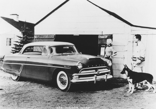 Lamm expected an earth-shattering revamp in Hudson styling for 1954 but felt cheated when he saw an early sedan hidden in the dealer's private garage. He considered the 1954 update derivative (Olds/Ford) and poorly executed. Photo: blog.hemmings.com