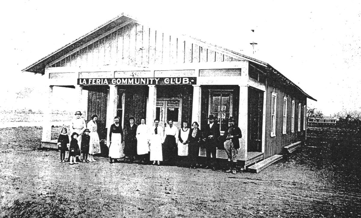 The La Feria Community Club building in 1921. This building housed ther regular meetings of several community organizations, including the nascent La Feria American Legion post. Photo: LFN Archives.