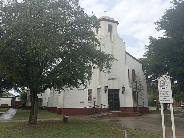 The second site for St. Francis Xavier Catholic Church in La Feria. This building was erected in 1930 after the original frame building, along with all the recrods archived there, was destroyed in a fire in July 1929. The building now houses the Food Bank and capilla. Photo: Cayetano Garza Jr./LFN.