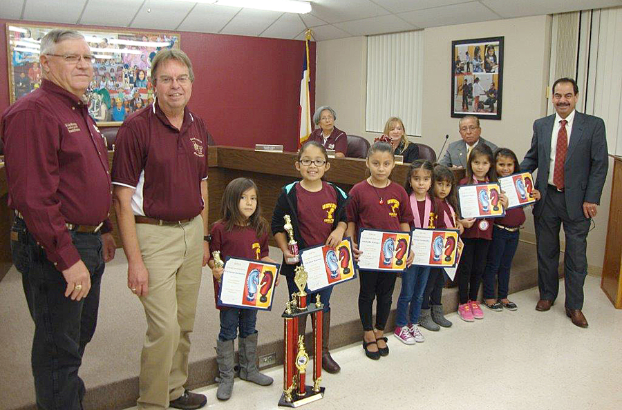 The Superintendent and the La Feria ISD School Board recognize La Feria ISD students' accomplishment in placing at the State Girls' State Chess Meet.
