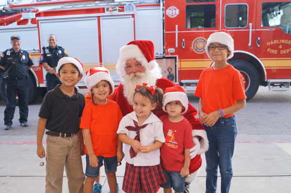 Santa Claus will arrive at Harlingen Medical Center onboard a fire engine, thanks to the Harlingen Fire Department, during a free Christmas celebration for the community on Monday, December 5.