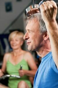 Exercise senior couple