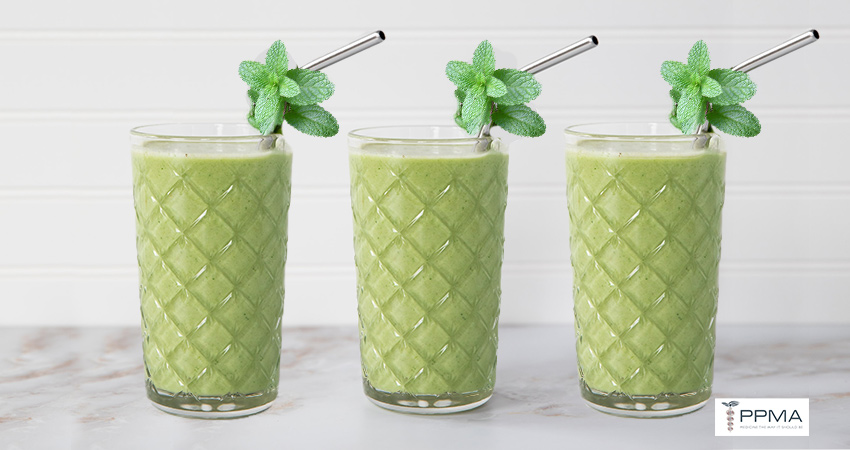 """minty """"shamrock"""" smoothie healthy recipes nutritionist dietitian Private Physicians Medical Associates PPMA Newport Beach OC CA Southern California SoCal"""