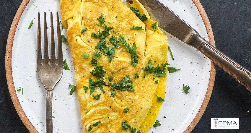 Spinach, Feta Olive Omelette healthy recipes, nutritionist, dietitian, Private Physicians Medical Associates, PPMA. Primary Care Doctors, Newport Beach, OC, CA, Southern California, SoCal