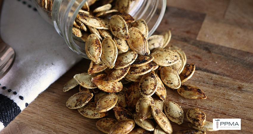 Roasted pumpkin seeds, healthy recipes, nutritionist, dietitian, Private Physicians Medical Associates, PPMA. Primary Care Doctors, Newport Beach, OC, CA, Southern California, SoCal