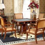 "E10 Game Table & C14 Arm Chair  38"" x 38"" x 31.5"""