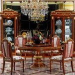 E38 dining room ROUND TABLE  59.1 X 30.7 DINING CHAIR 20.3X23.6X43.7 ARM CHAIR 20.3X25.4X43.7