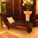 82181 Chaise 70x27x38 Genuine Leather Burgandy