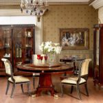 E10 round dining table with C14 chair black