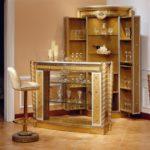 Bar Table                           54.7Lx19.6Wx43.3HBar Cabinet closedbar cabinet open43.3Lx43.3Wx82.2HBar Chair17.7diax 41.7H