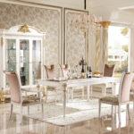 E62 dining room 2 W  Dining  Table 4 Legs,  78.74 x 43.30 x 30.70/ 3 Door Showcase ,68.11 x 25 x 91.85
