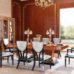 E69 long dining table set  Dining table 94.5 x 47.2 x 30/ 4 Door Showcase 82.5 x 20.5 x 82.7/ Side Chair 19.7 x 22.8 x 38.2/ Arm Chair 24.8 x 22.8 x 38.2