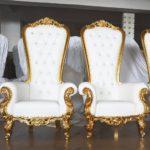 King Throne chair 68.14'' H x 36.5'' W x 29'' D  Seat  16'' H x 20.5'' W x 22'' D