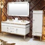 INF-3337 Vanity-32'' H x 59'' W x 23'' D  Mirror-32'' H x 59'' W x 23'' D  Side Cabinet-59'' H x 19.6'' W x 12'' D