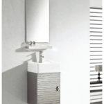 INF-3355 Vanity-17.7'' H x 15'' W x 15'' D  Mirror- 27.5'' H x 15.7'' W x 0.5'' D