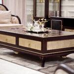 "E-71 long coffee table 55.12""W x 34.25""D x 17.72""H"