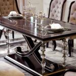 "E-71 long dining table 70.87""W x 39.37""D x 29.92""H"