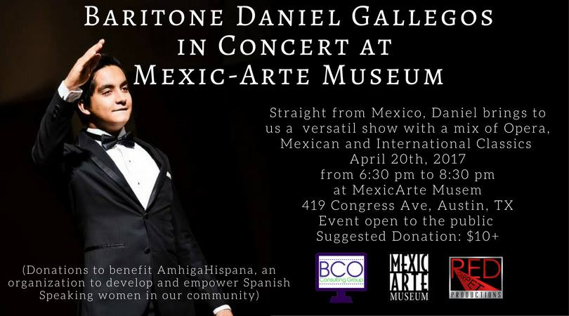 Baritone Daniel Gallegos in Concert at Mexic-Arte Museum