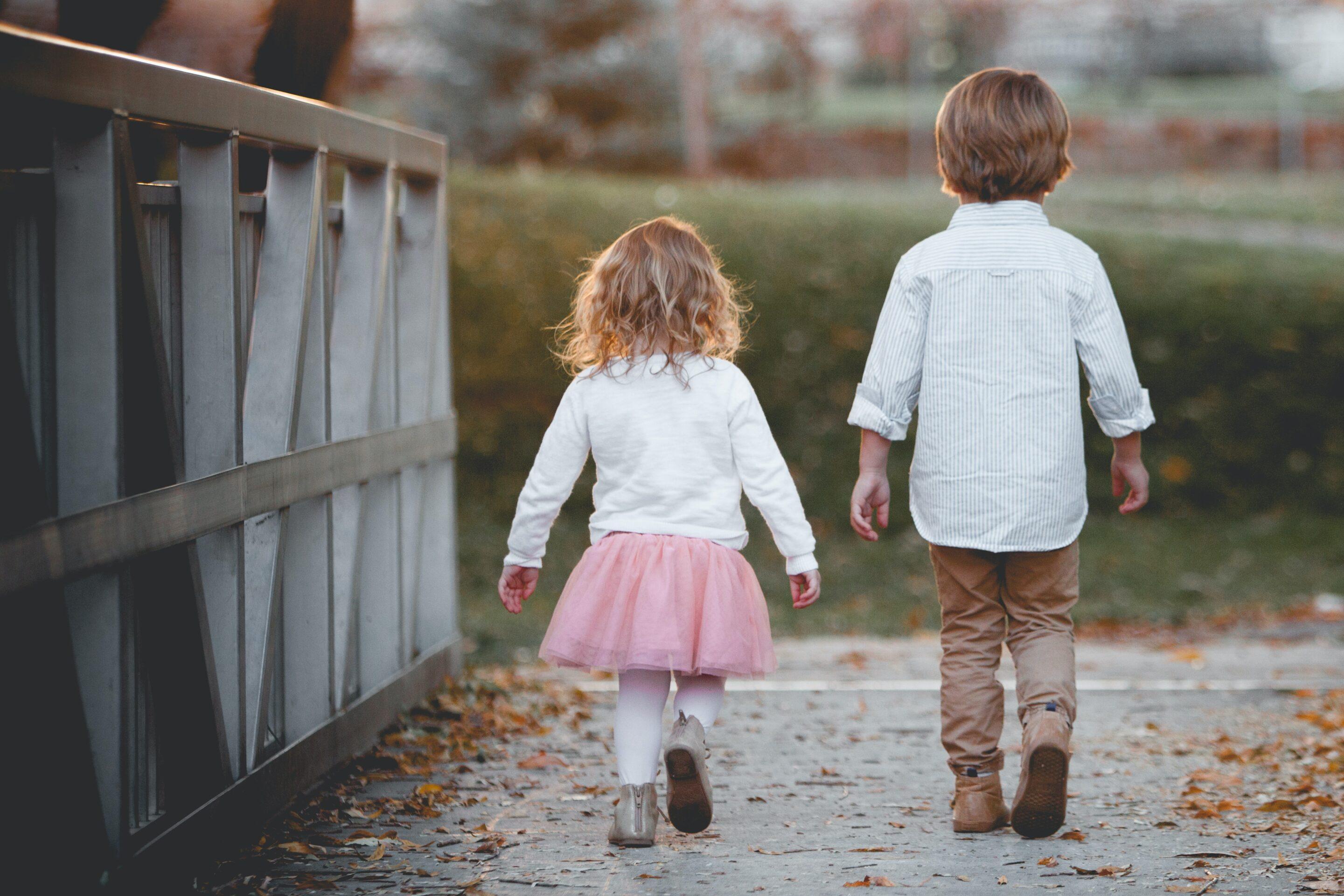 Picture of children walking.