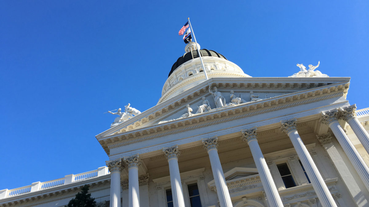 Exterior shot of the California State Capitol, focusing on the dome and cupola. (Photo by Ben Young Landis)