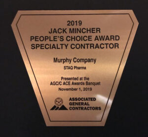 Murphy Company Wins Jack Mincher People's Choice Specialty Contractor Award for its work at STAQ