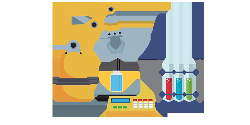 Robotic arm filling prescription bottle
