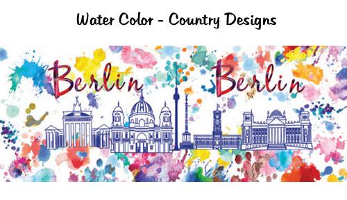 Watercolor Skyline Design