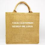 Custom Jute Tote Bag