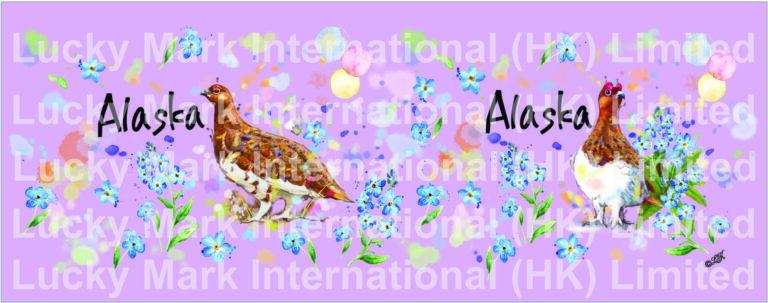 Souvenir Watercolor Floral & Bird Design