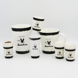 High Quality Fine Bone China White Set (Eagle Design)