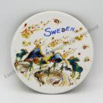 Souvenir Matte-Finished Coaster Sweden Moose Design