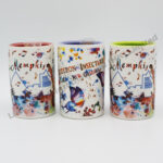 Watercolor Design Matte Finish Tooth Pick Holder